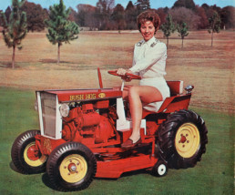 bushhog_woman-on-TE-63_garden-tractor